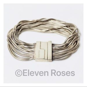 Gucci Sterling 12 Strand Multi Chain Bracelet